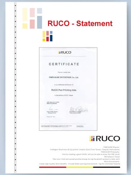 RUCO inks exclusive agent certificate
