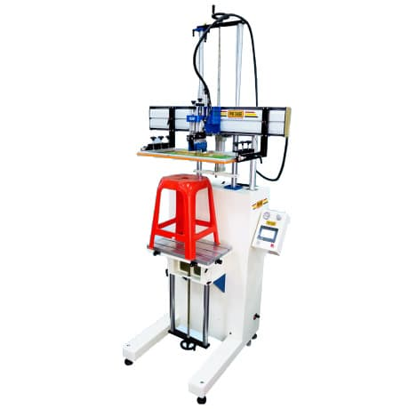 Servo Motor Screen Printer w/Platform Iron table L-type high