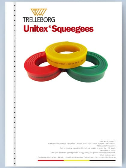 Unitex squeegee care - Maintenance Instructions Card